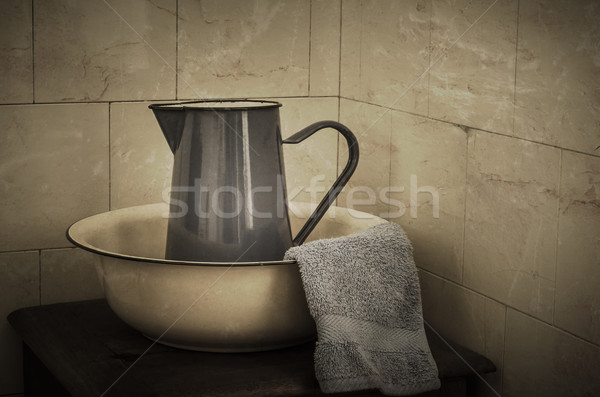 Wash Basin and Jug  - Retro Stock photo © frannyanne