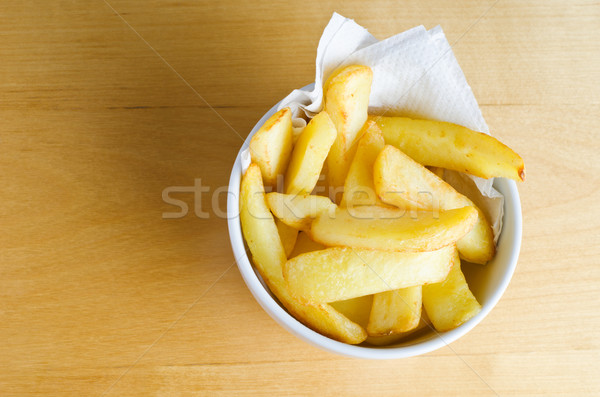Bowl of Chips from Above Stock photo © frannyanne