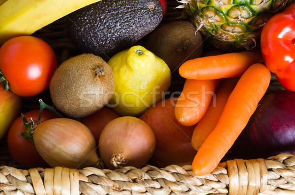 Fruit and Vegetable Basket Stock photo © frannyanne