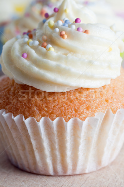 Cupcake with Icing and Sprinkles Stock photo © frannyanne