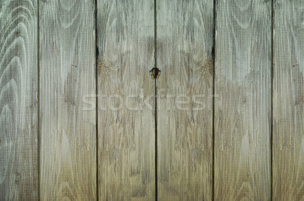 Grungy Weathered Plank Fence Stock photo © frannyanne