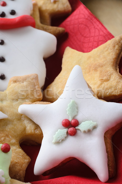 Christmas Biscuits Decorated with Icing Stock photo © frannyanne