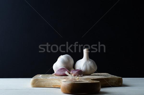 чеснока гвоздика черный приготовление пищи Сток-фото © frannyanne