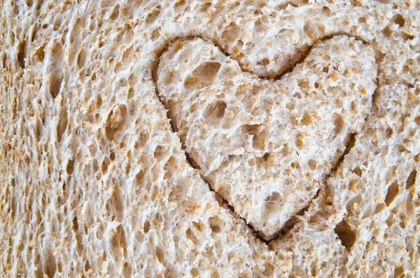 Wholemeal Bread Heart Cutout Stock photo © frannyanne