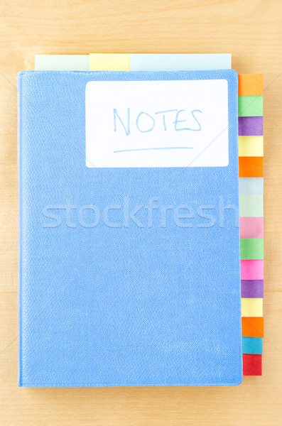 Blue Notebook with Sticky Tabs Stock photo © frannyanne