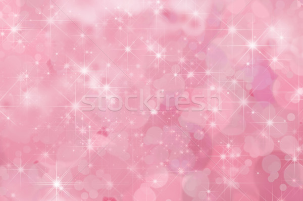 Pink Abstract Star Background Stock photo © frannyanne