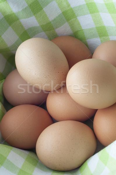Stockfoto: Eieren · mand · bruin · vers