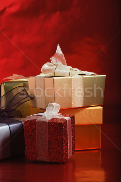 Gifts with Ribbon Bows Stock photo © frannyanne