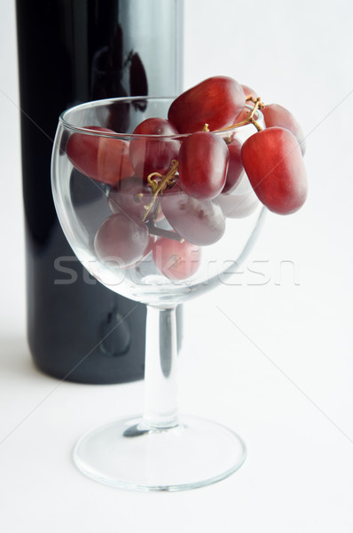 Red Grapes in Wine Glass Stock photo © frannyanne