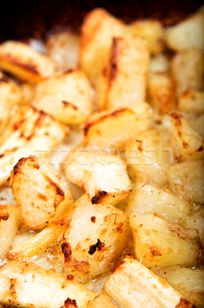 Roast Potatoes and Parsnips - Vertical Stock photo © frannyanne