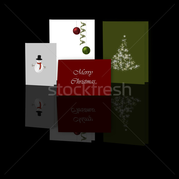 Christmas Cards Display Stock photo © frannyanne