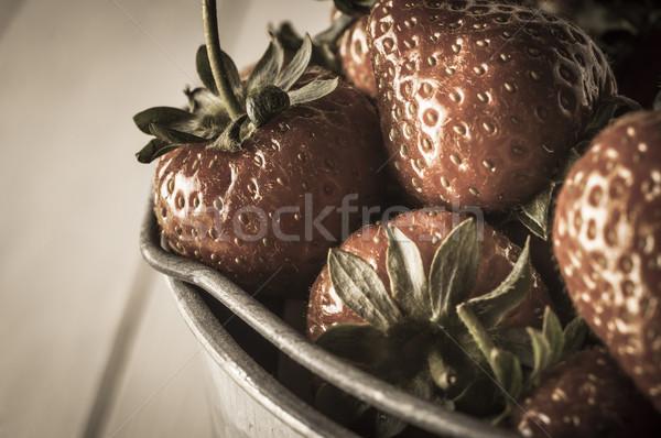 Vintage Strawberries Close Up Stock photo © frannyanne