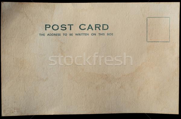 Old Blank Postcard Background Stock photo © frannyanne
