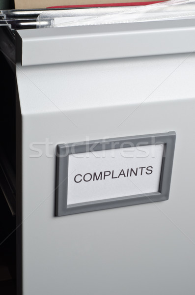 Complaints Files in Drawer Stock photo © frannyanne