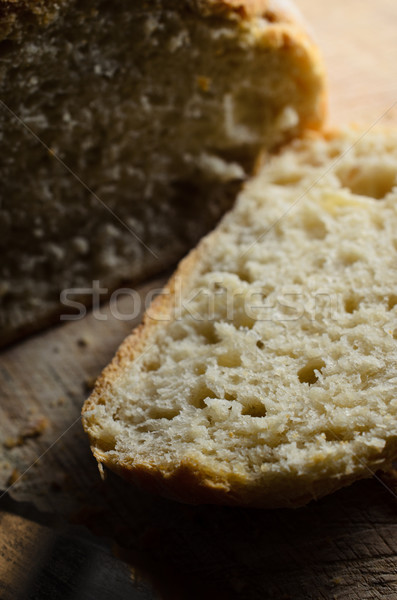 Bread Slice Cut from Freshly Baked Loaf Stock photo © frannyanne