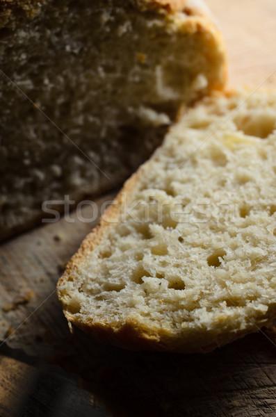Cortar pão pão Foto stock © frannyanne