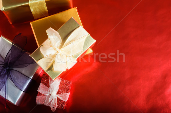 Christmas Gifts Overhead Stock photo © frannyanne