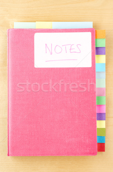 Notebook with Blank Tab Dividers Stock photo © frannyanne