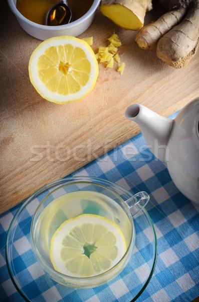 Honey, Lemon and Ginger Drink Stock photo © frannyanne