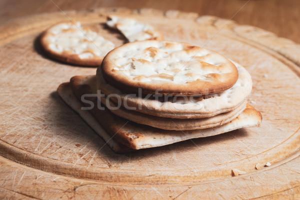 Vintage pão conselho variedade secar Foto stock © frannyanne