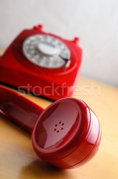 Retro Red Telephone with Receiver Off The Hook Stock photo © frannyanne