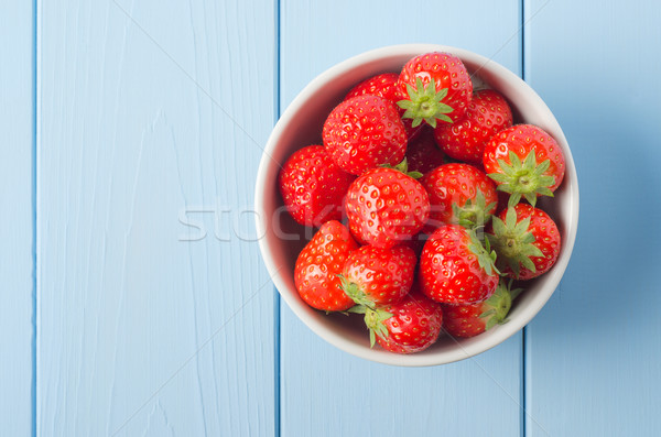 Strawberry Bowl Overhead Stock photo © frannyanne