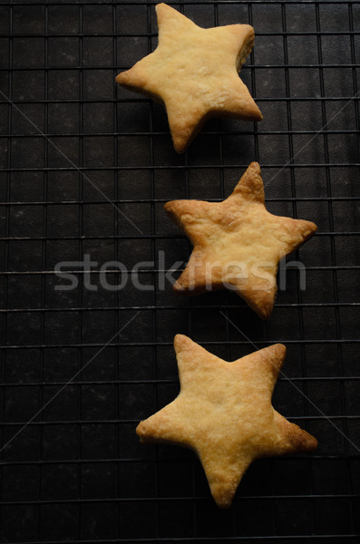 Drie star christmas biscuits koeling Stockfoto © frannyanne
