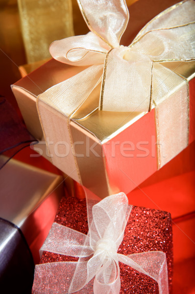Wrapped Gifts with Ribbons Stock photo © frannyanne