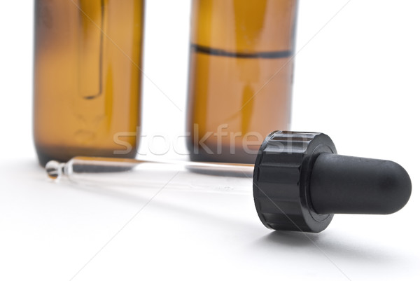 Tincture Bottles and Pipette Stock photo © frannyanne