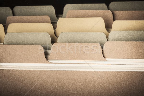 Index Card Database - Vintage Hues Stock photo © frannyanne