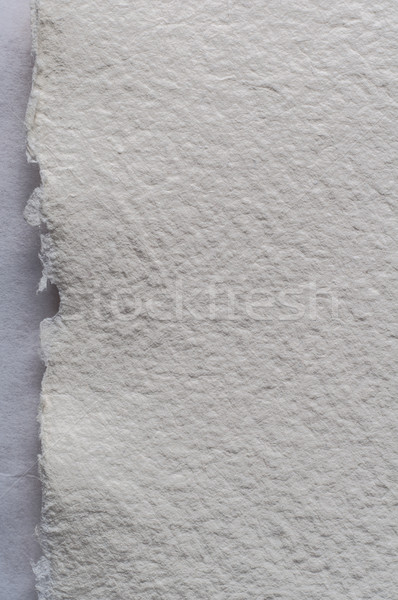 Torn Edge of White Art Paper Background Texture Stock photo © frannyanne