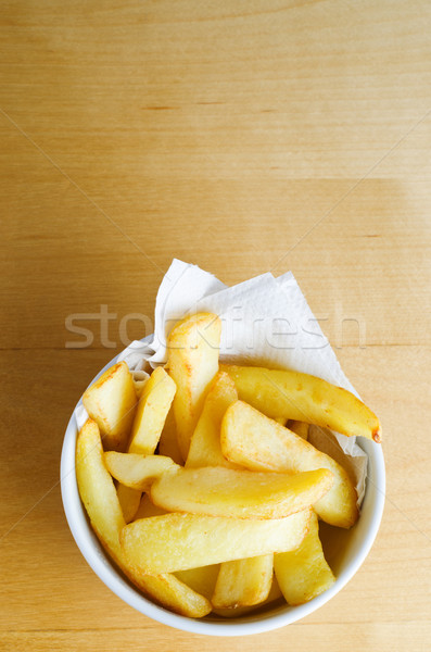 Stock photo: Bowl of Chips Overhead