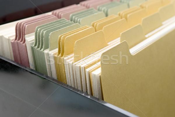 Index Cards Closeup Stock photo © frannyanne