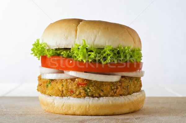 Veggie Burger in Bap Stock photo © frannyanne
