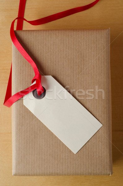 Label and Brown Paper Package Stock photo © frannyanne