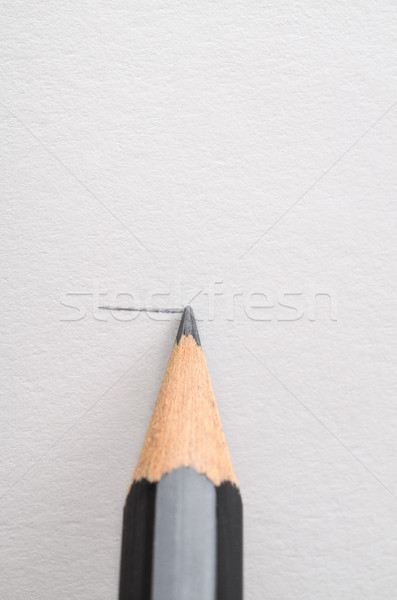 Drawing a Line with a Pencil Stock photo © frannyanne