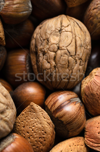 Whole Mixed Nuts Selection Stock photo © frannyanne