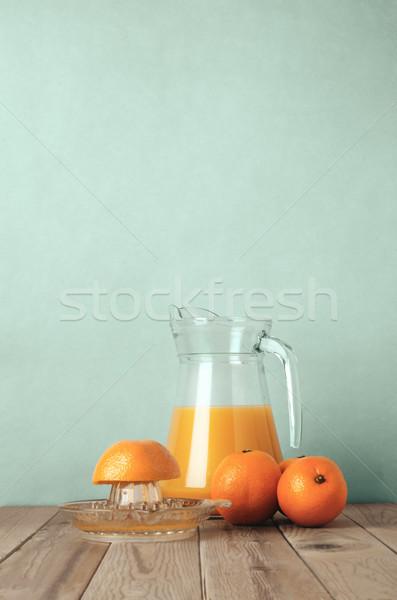 Freshly Squeezed Orange Juice Scene Stock photo © frannyanne
