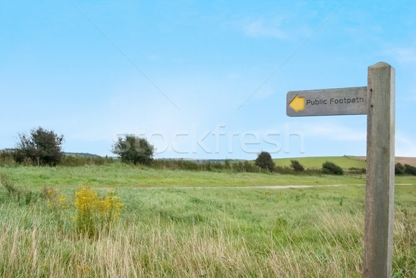 Public Footpath in Countryside Stock photo © frannyanne