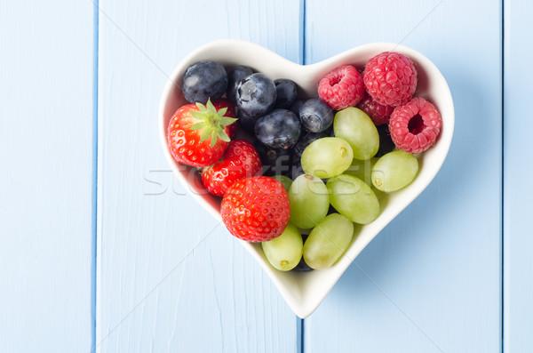 Fruit Heart Overhead Stock photo © frannyanne