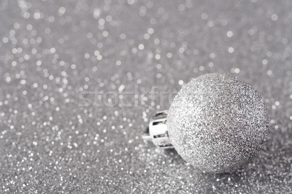 Gümüş önemsiz şey parıltı yüzey Stok fotoğraf © frannyanne