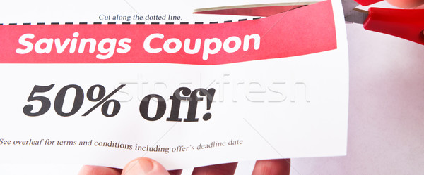 Savings Coupon Stock photo © frannyanne