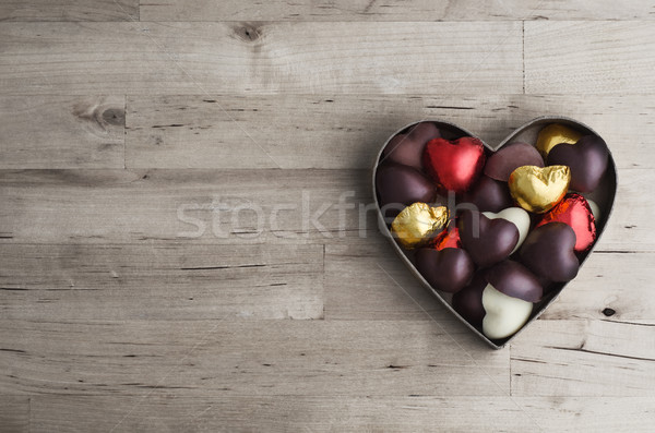 Corazón cuadro madera tiro Foto stock © frannyanne