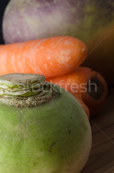 Root Vegetables Close Up Stock photo © frannyanne
