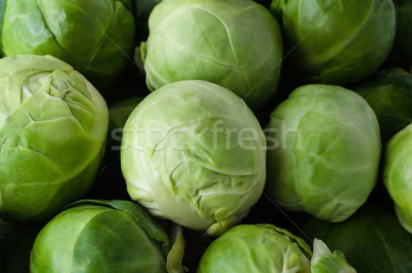 Brussel Sprouts Filling Frame Stock photo © frannyanne