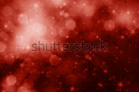 Red Stars and Bokeh Christmas Background Stock photo © frannyanne