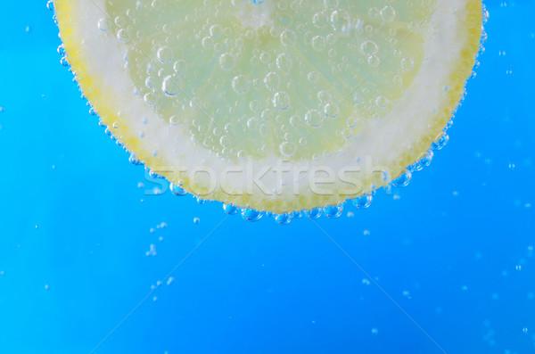 Lemon Slice in Sparkling Water Stock photo © frannyanne