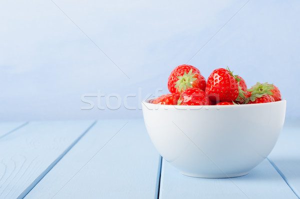 Bowl of Strawberries Stock photo © frannyanne