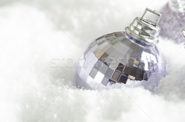 Christmas Bauble in Snow Stock photo © frannyanne
