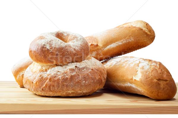 Chleba biały rynku świeże Zdjęcia stock © frannyanne